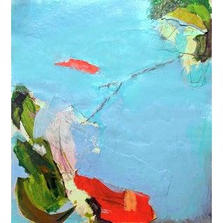 Contemporary Color Collage/Aerial View of Aqua Ocean For Sale