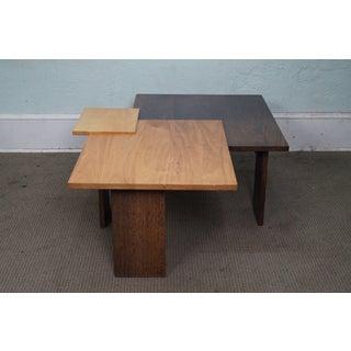 Jeffrey Greene Studio Mixed Wood Geometric Coffee Table Preview