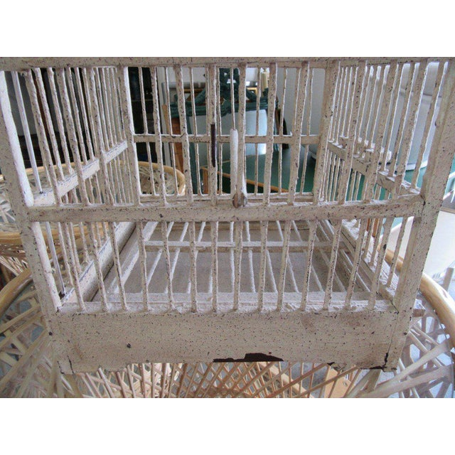 Vintage Painted Bird Cage - Image 3 of 7