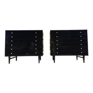 1950s Mid-Century Modern Martinsville Ebonized Mid Century Dresser Set - 3 Pieces For Sale