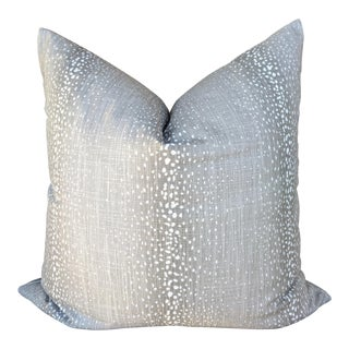 Boho Chic Gray Antelope Print Pillow Cover For Sale