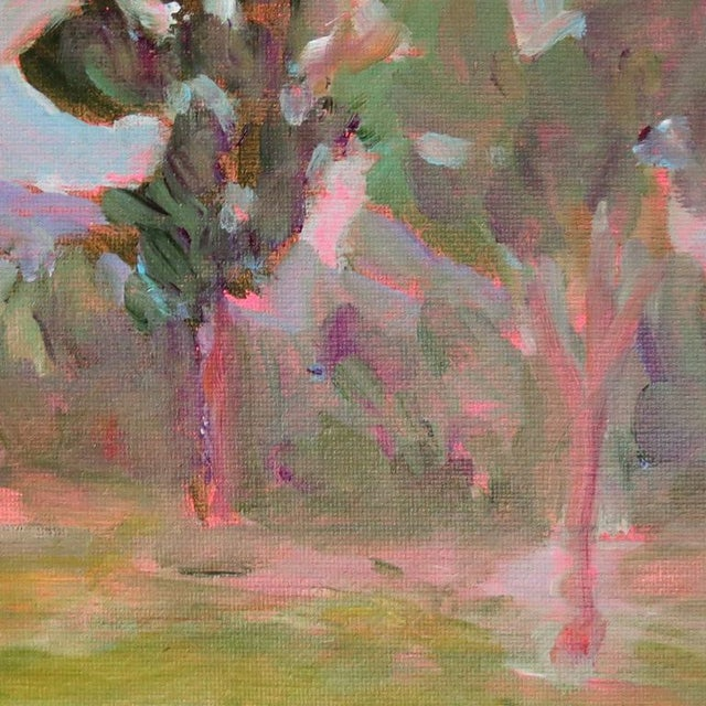"Mary Houston Acrylic on Canvas ""Mountain Poplars"" - Image 2 of 2"