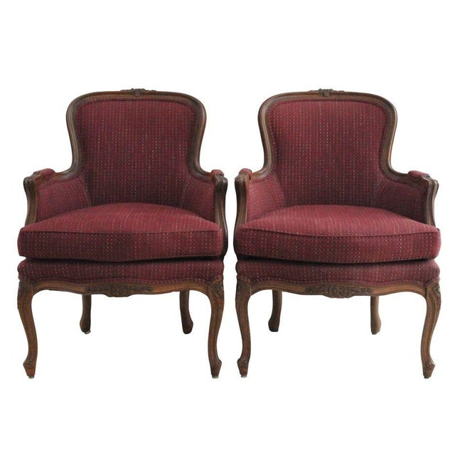 Ethan Allen Louis XV Style Bergeres - A Pair - Image 1 of 3