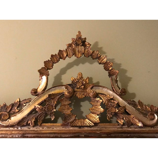 1900 - 1909 1900s Argentinian Gold Leaf Mirror For Sale - Image 5 of 7
