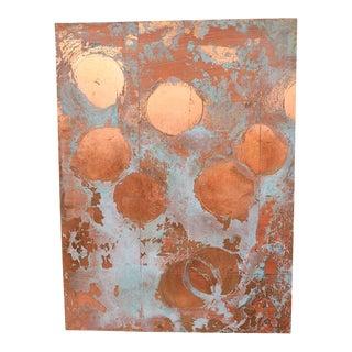 """""""Copper Circles Iv"""" - Original Contemporary Art For Sale"""