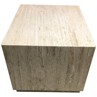 Travertine Coffee Table Large Cube For Sale