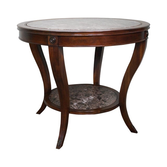 Drexel Heritage Mahogany Regency Center Table - Image 1 of 10