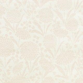 Sample - Schumacher Chrysanthemum Sisal Wallpaper in Blush For Sale