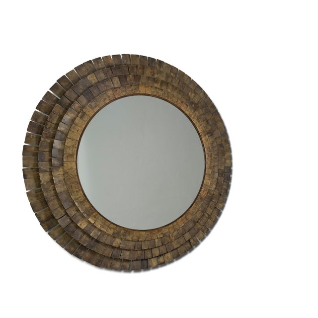Materials are clear mirror - brass plate stratified in gold fnsh