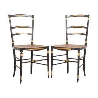 French 19th Century Belle Époque Opera Chairs - a Pair For Sale