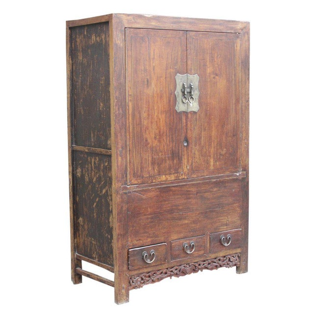 Antique Ming-Style Elm Armoire - Image 2 of 6