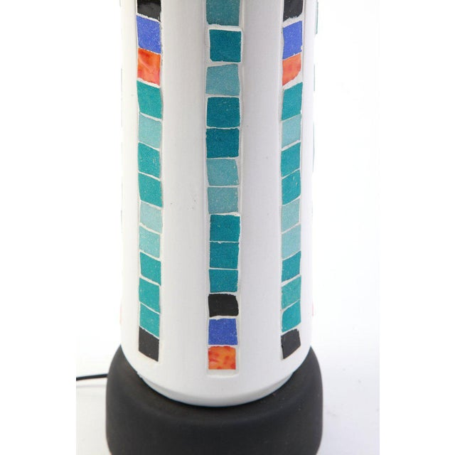 Mid-Century Modern 1960s Large Scale Plaster and Mosaic Table Lamp For Sale - Image 3 of 4