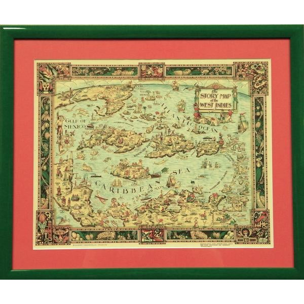 The Story Map of the West Indies For Sale