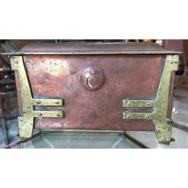 Vienna Secessionist Copper Trinket Box For Sale In Tampa - Image 6 of 11