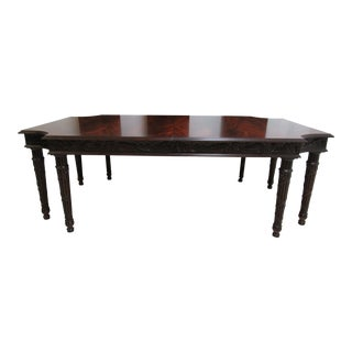 Council Furniture Flame Mahogany 8 Legged Dining Banquet /Conference Table For Sale