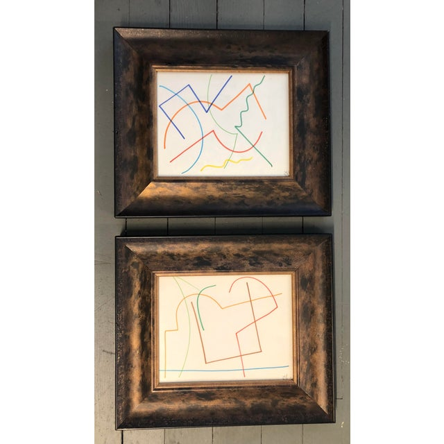 1970s Original Vintage Colored Marker Abstract Drawings Robert Cooke 1970's For Sale - Image 5 of 5
