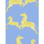 Sample, Scalamandre Zebras, Periwinkle Wallpaper