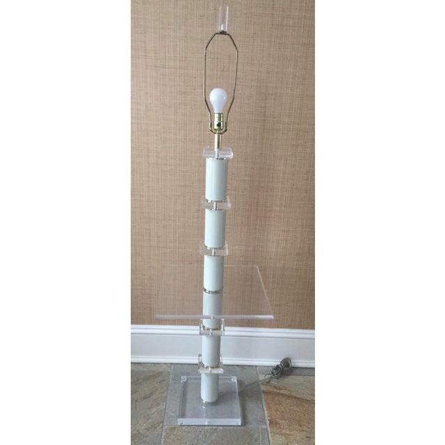 Vintage Bauer Lucite Floor Lamp Table
