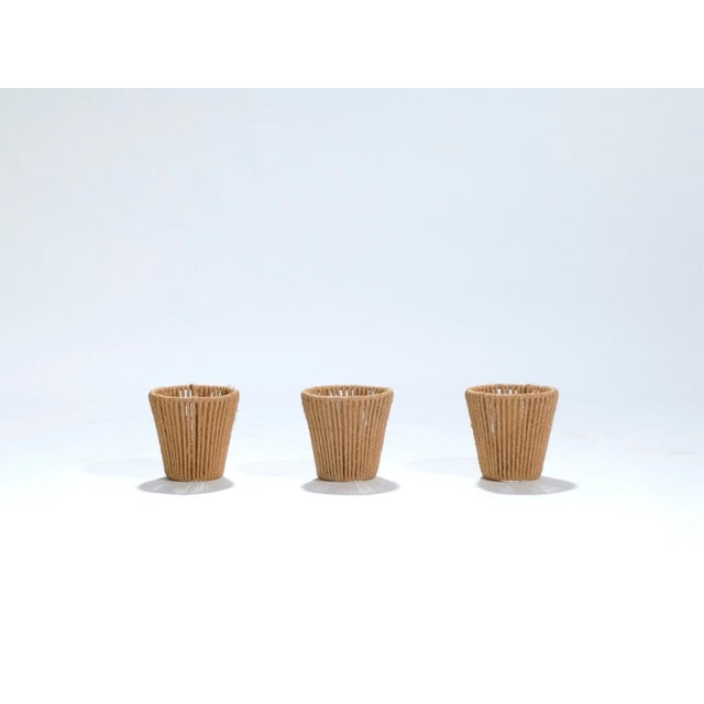 Mid-Century Modern Audoux Minet Small Rope Shades, 1960s - Set of 3 For Sale - Image 3 of 9