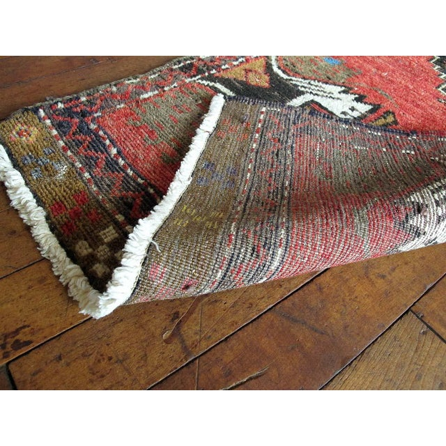 Vintage Turkish Oushak Hand-Knotted Wool Rug - 1' x 4' - Image 4 of 11
