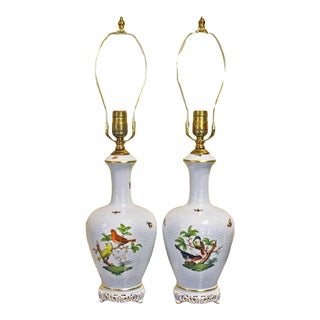 20th Century Asian Herend Lamps - a Pair