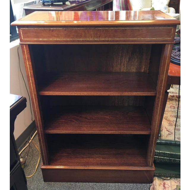 English Custom Made Burled Walnut Single Low Bookcase For Sale In New York - Image 6 of 6