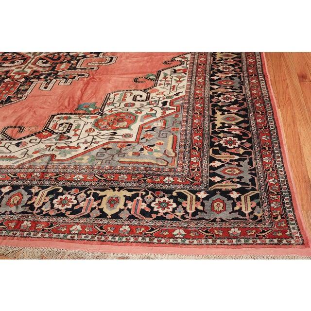 1970s Large Vintage Persian Silk Heriz Rug - 13′1″ × 19′ For Sale - Image 5 of 11