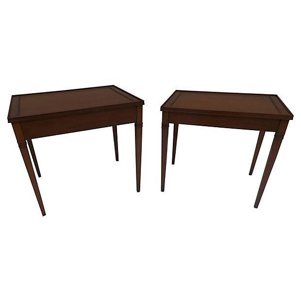 Tapered Leg Stacking Tables - Pair - Image 1 of 4