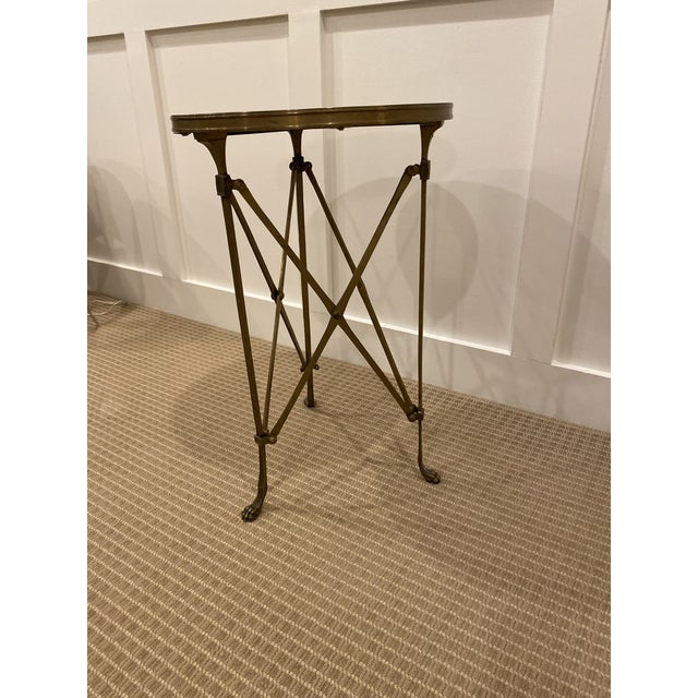 Black 1990s Vintage Neoclassical Iron and Granite Side Table For Sale - Image 8 of 12
