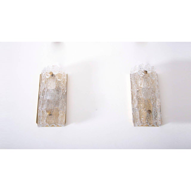 Lyfa Set of Eight Wall Lamps by Carl Fagerlund for Orrefors and Lyfa For Sale - Image 4 of 6