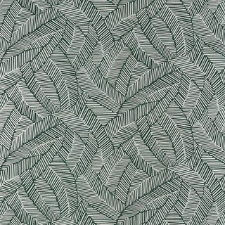 Schumacher Abstract Leaf Wallpaper in Metallic Slate For Sale