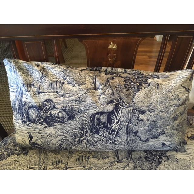 Mahogany Settee With Matching Oblong Pillow Cover For Sale In Washington DC - Image 6 of 13