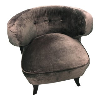 Rugiano Gitta Suede Upholstered Chair For Sale