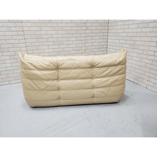 Leather Mid Century Medern Togo Sofa Set by Michel Ducaroy for Ligne Roset - 5 Piece Set For Sale - Image 7 of 11