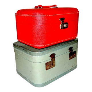 Pair of Mid 20th Century Luggage Set For Sale