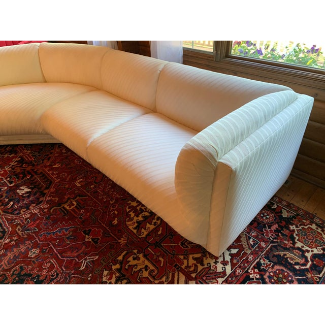 Vintage Bernhardt 3 Piece Sectional Sofa Attributed to Milo Baughman-1989 For Sale - Image 9 of 13