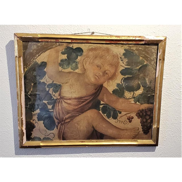 Early 20th Century Medici Print of Putti Under a Vine For Sale - Image 11 of 11