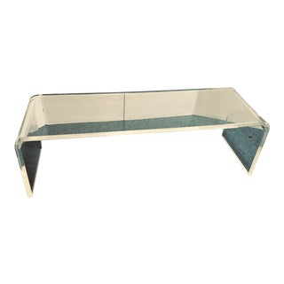 1970's Mid-Century Modern Lucite Coffee Table For Sale