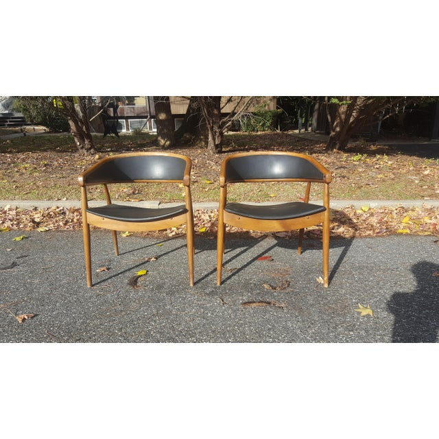James Mont James Mont Vintage Mid-Century Lounge Chairs - A Pair For Sale - Image 4 of 7