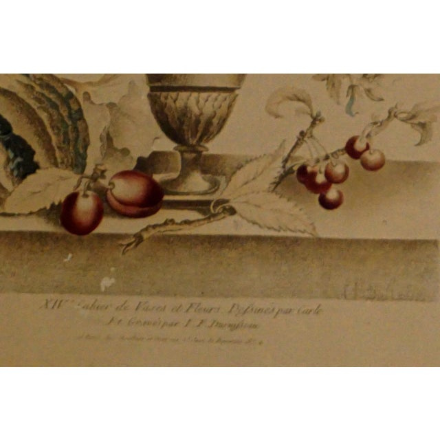 19th Century French Hand Colored Floral Etchings-A Pair For Sale - Image 4 of 12