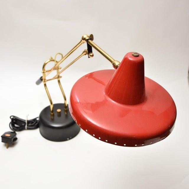 Metal 1950s Stilnovo Brass Desk Lamp For Sale - Image 7 of 8