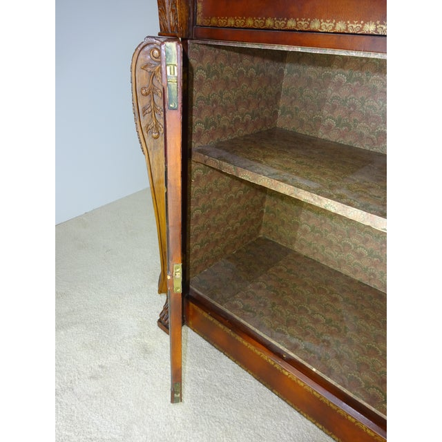 Maitland Smith Leather Faux Book Cabinet For Sale - Image 7 of 11