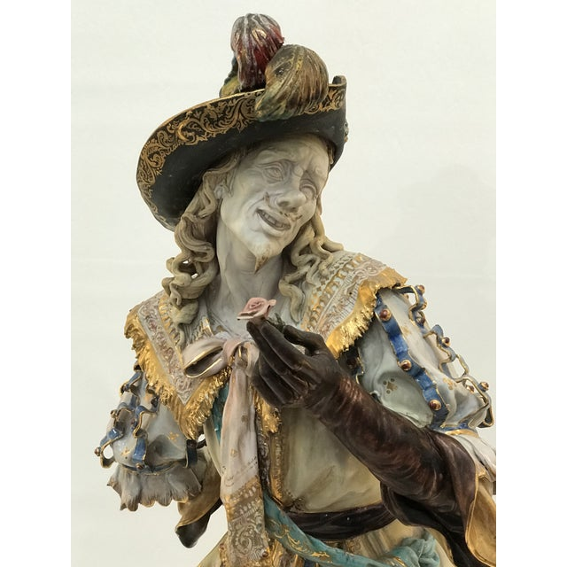This monumental Italian terracotta statue of Cyrano de Bergerac created by Professor Eugenio Pattarino 1885 - 1971...
