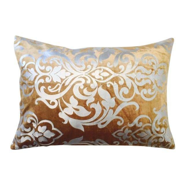 Gold and Silver Foiled King Sized Blanket, Sham, and Accent Pillow Cover - Set of 3 - Image 5 of 5
