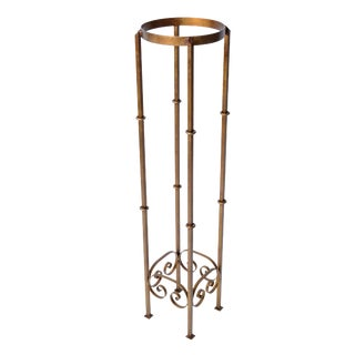 Cast Iron Golden Plant Stand For Sale