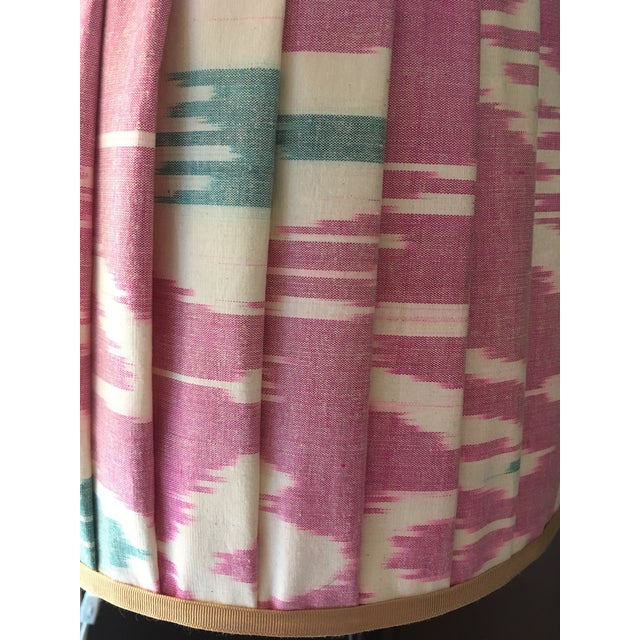 Contemporary Mary Jane McCarty Collection Ikat Lampshade For Sale - Image 3 of 4
