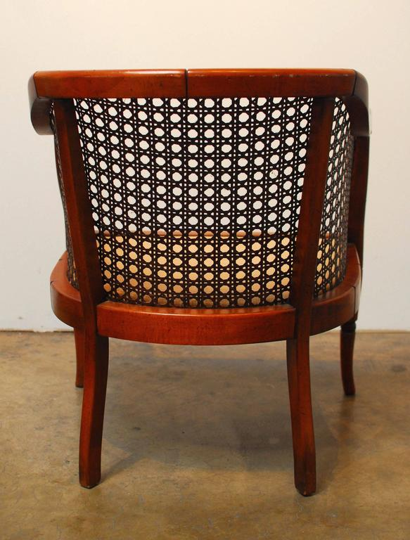Midcentury Bamboo Cane Barrel Chair For Sale In San Francisco   Image 6 Of 8