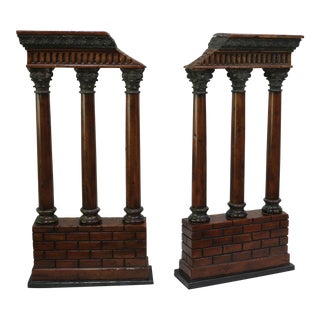 Italian Theodore Alexander Decorative Columns - a Pair For Sale
