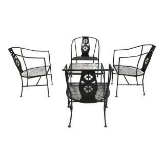 "Five Piece Black ""Montego"" Patio Set"