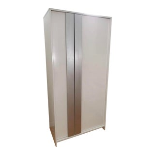 Cb2 Modern White Monolith Wardrobe For Sale